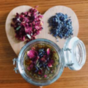 Lavendel-Rosen-Honig