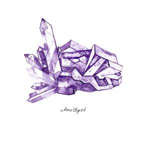 violette Edelsteine für Hunde
