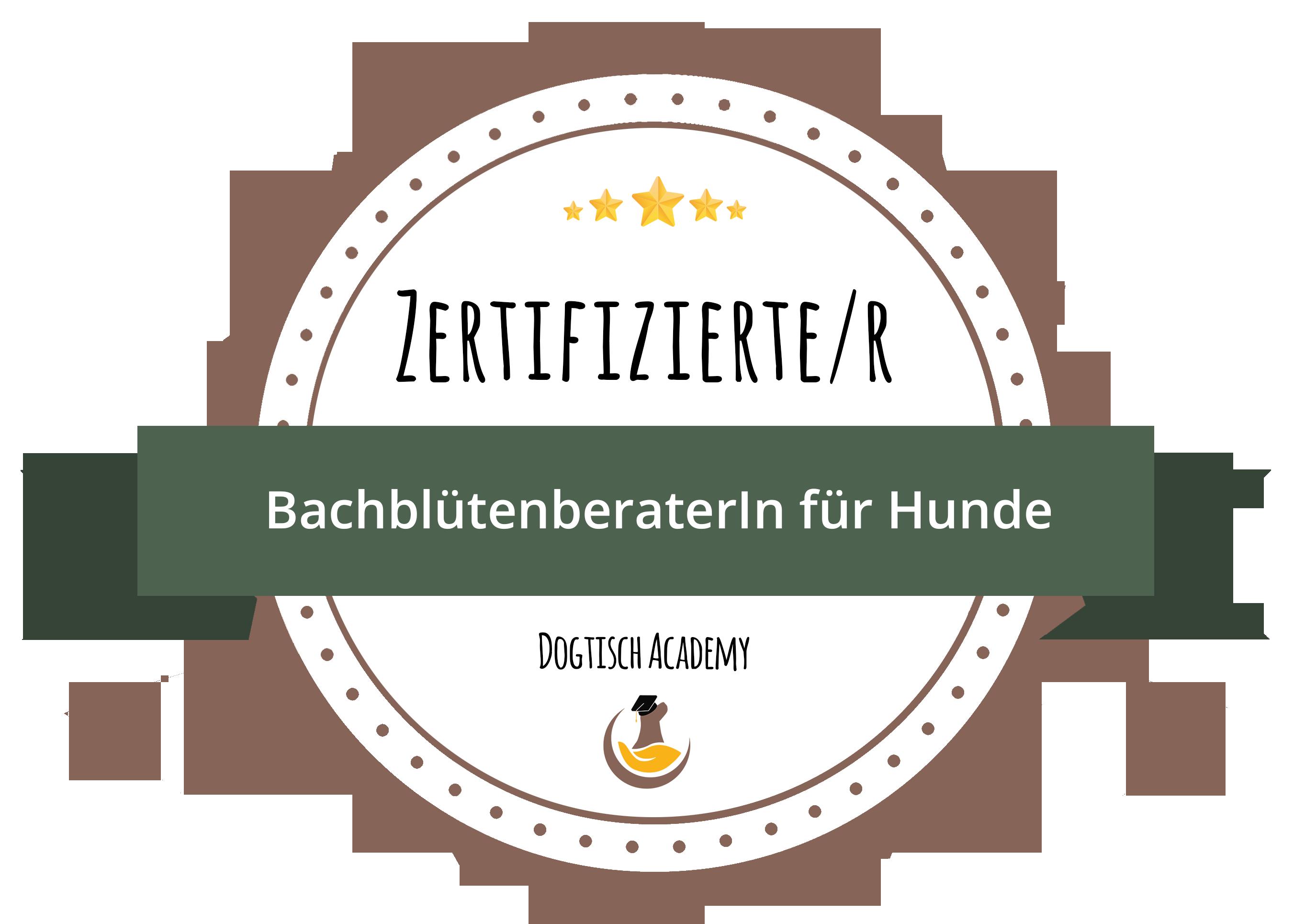 Zertifikat Bachblütenberaterin für Hunde